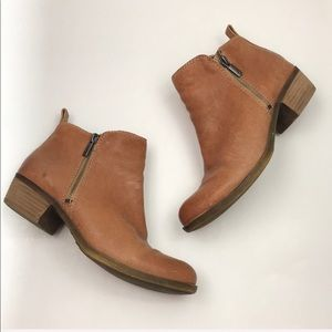 Lucky Brand Tan Leather Boots Booties